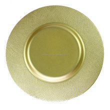 wholesale European style round glass plates luxurious dinnerware for restaurant/hotel/home/wedding