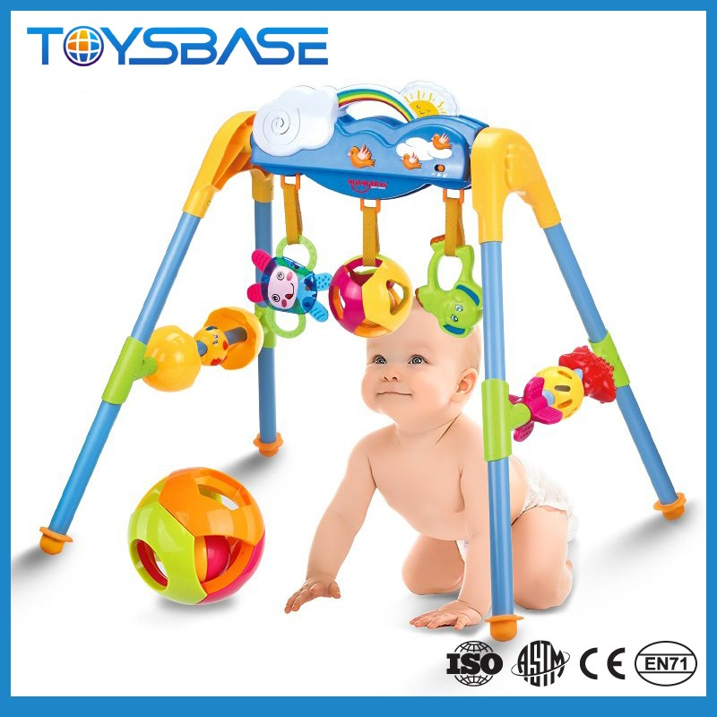 Hot sale activity play baby gym with hanging toys