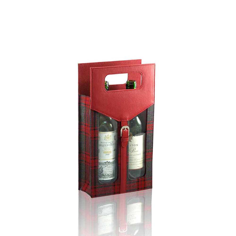Customize cylindrical leather gift wine box for single bottle