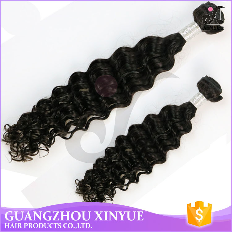 Wholesale yaki semi human hair cheap deep wave 100 percent indian remy human hair