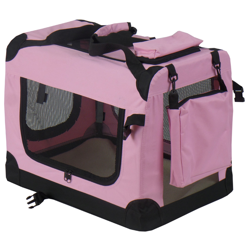 Pet Dog Transport CageTrolley pink Pet carrier