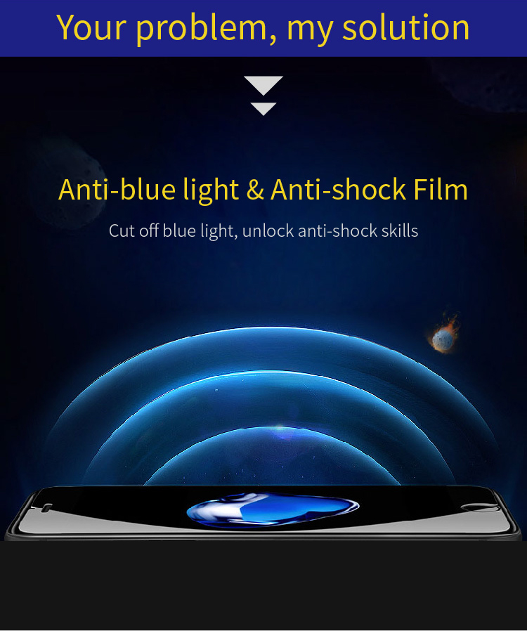 cell phone accessories screen protector anti blue ray explosion proof tpu film for iPhone 10 / X