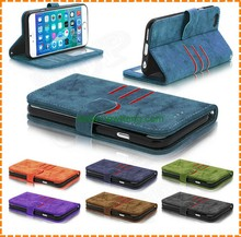 Factory wholsale high quality Scrubs leather mobile phone accessory Flip cover case for iphone 7