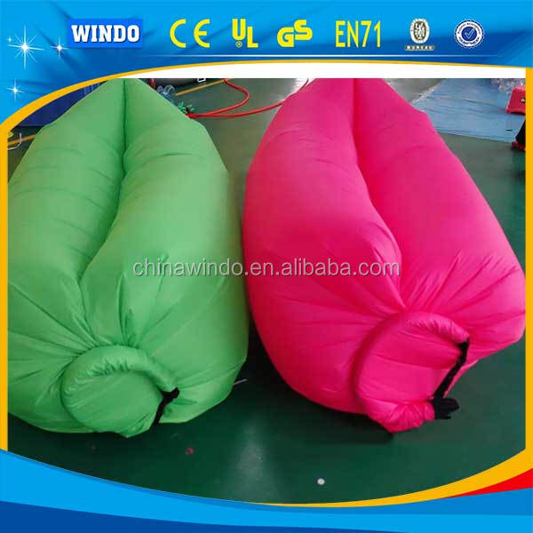 Outdoor convenient inflatable lounger sofa bed hangout air sleeping bag