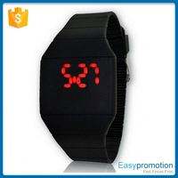New product trendy style as customize watch touch led watch made in china
