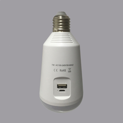 Multi-function bulb emergency light bulb with solar panel for indoor and outdoor