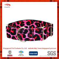 2015 Stylish pet products heavy duty premium printing customized dog collars martingale