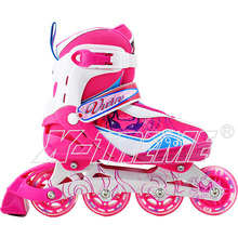Sports shoes popular which metal core inline skate with four PU wheels and good quality buckle