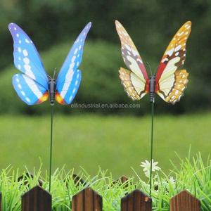 Monarch simulated butterfly decorative floral picks 12 cm artificial floral butterfly stick garden ornaments