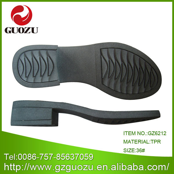 slip resistant black tpr outsole