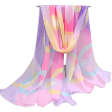 Hot selling new design printed shawls personalized silk scarf women chiffon silk scarf