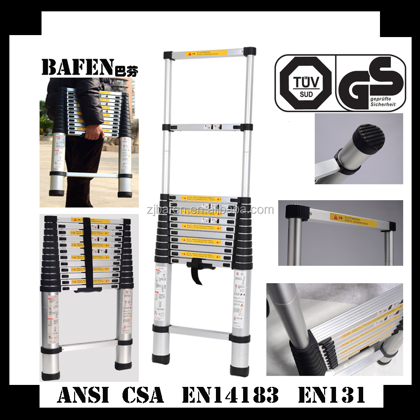 wholesale 3.8m telescopic lightweight ladders with bags