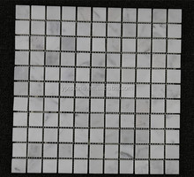 "1"" square Honed italian marble Carrara White mosaic tile"