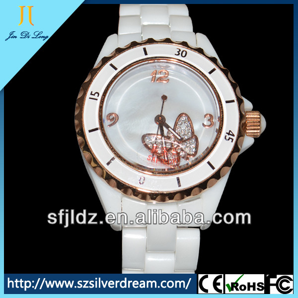 Ceramic Quartz Analog Watch White Colour Watches