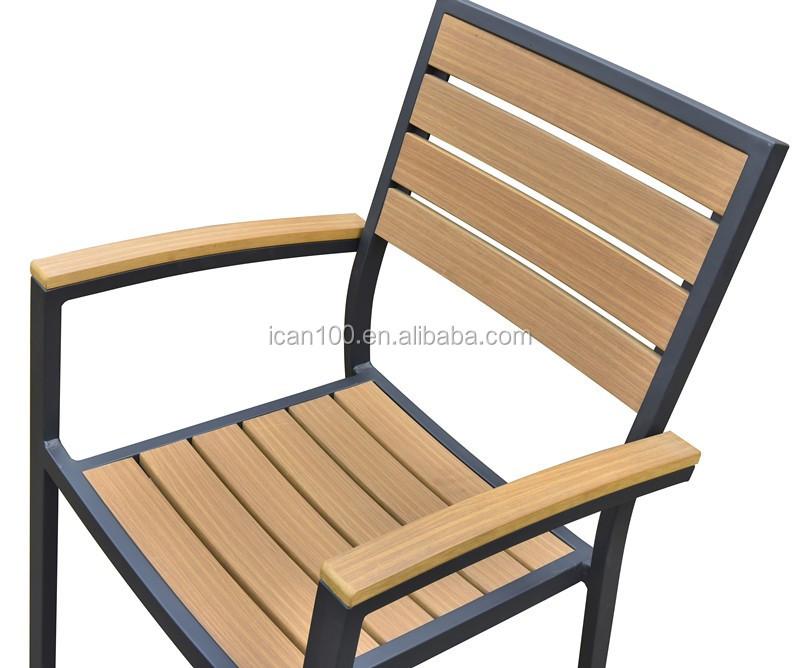 Outdoor Plastic Teak Wooden Bistro Dining Chairs Buy Comfortable Restaurant Dining Chair