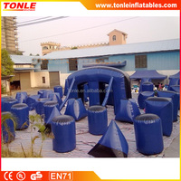 Funny Inflatable Sports Games Blow Up Paintball Bunkers/Inflatable Speedball Bunker