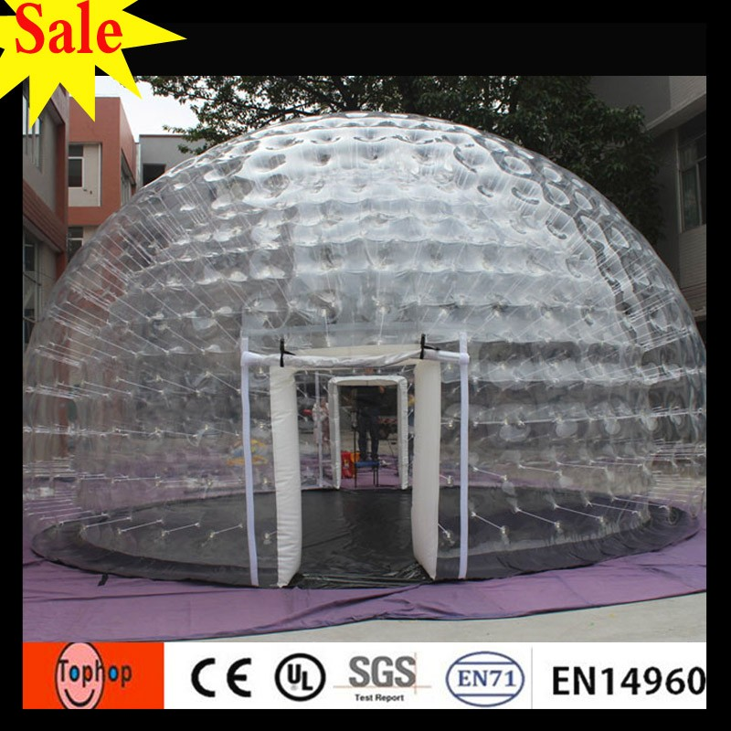 wholesale waterproof portable garden igloo inflatable clear tent used in fair