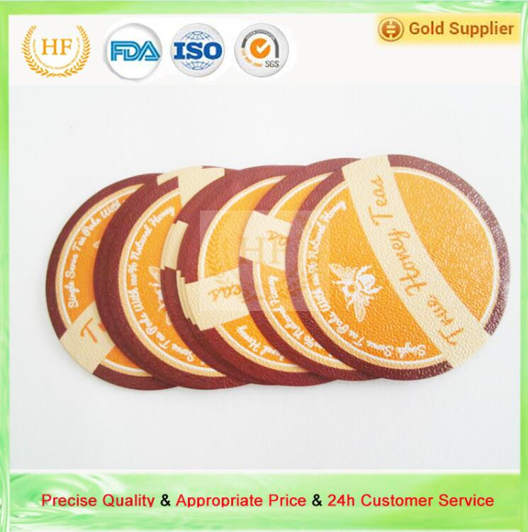 Free Samples 37.2mm Moisture Proof and Coated ps Glue Aluminium Foil Sealing Lids