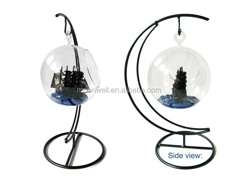 Priate ship in hanging bottle ship novelty nautical decoration decorative glass home decor