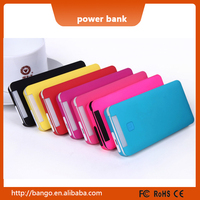 Portable charger built-in line power bank 6000mah for cell phone