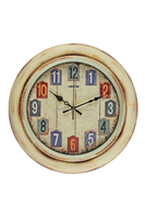 Retro design plastic wall clock /American country style wall clock