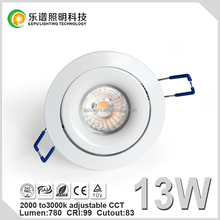 Specialized for norge and sverige recessed led downlight CCT 2000k-2800k Sharp cob 83mm with fast driver junction box