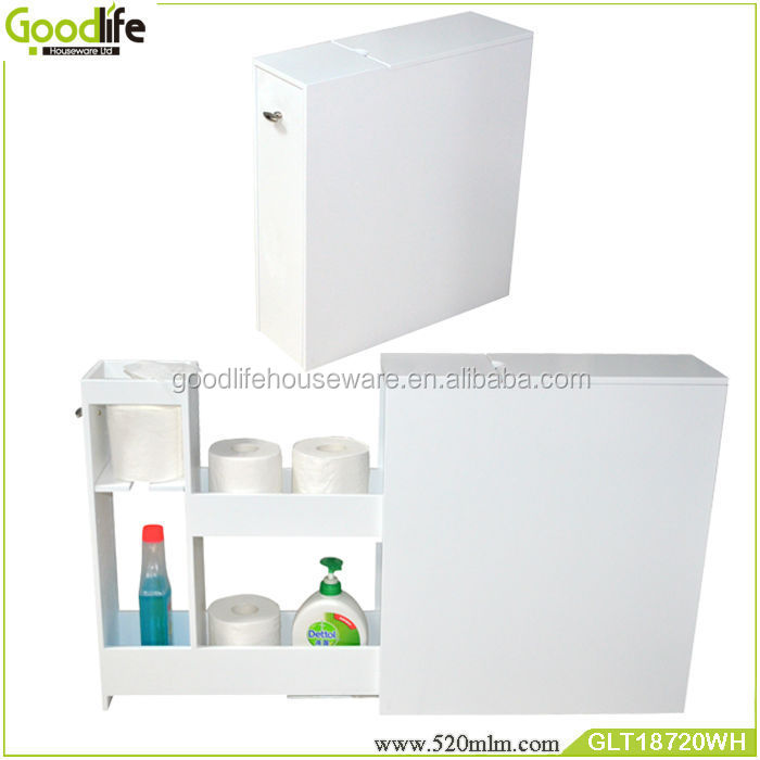 Bathroom cabinet small white wooden cabinet