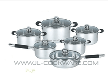 12pcs stainless steel euro hot fissler pressure cooker