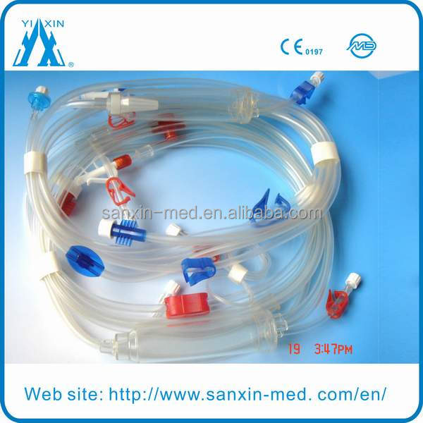 Disposable Dialysis Blood Lines CE Approved Gambro Hemodialysis Machine with drainage bag