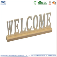 wholesale handing outdoor party decoration wood carving letters