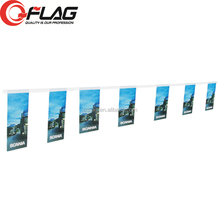Customized Waterproof Advertising FlagLine, Christmas Create Custom Flag Bunting, National flaglines
