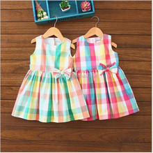 E0351A 2017 Summer dress color grid of the girls