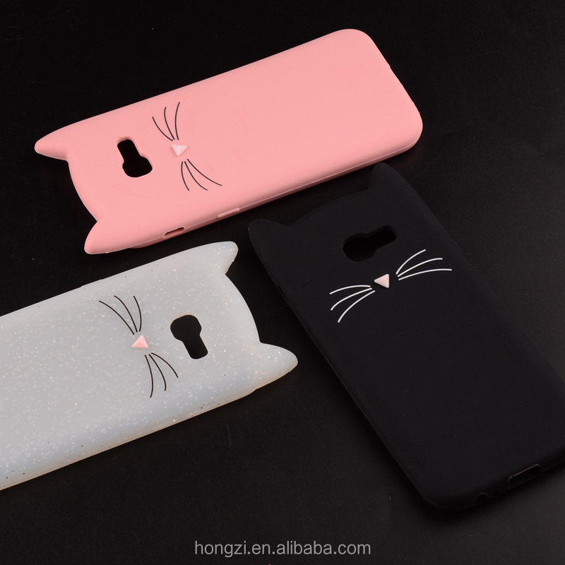 Cat Phone Case For Samsung Galaxy A5 2017 Silicone TPU 3D Cat Ear Cover Phone Cases For Samsung A5 2017 A520 A520F Case Coque