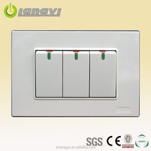 Luxurious South America PC Material Wall Switch Push Button,Push Switch,Wall Switch