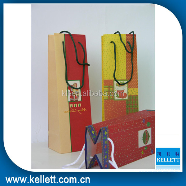 Popular wine paper packaging paper bag & Wine gift paper bag for packaging