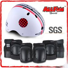 ABS Shell sport helmet 3 in 1 knee pads elbow pads wrist pads