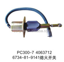 6734-81-9141 4063712 Flameout solenoid for PC300-7