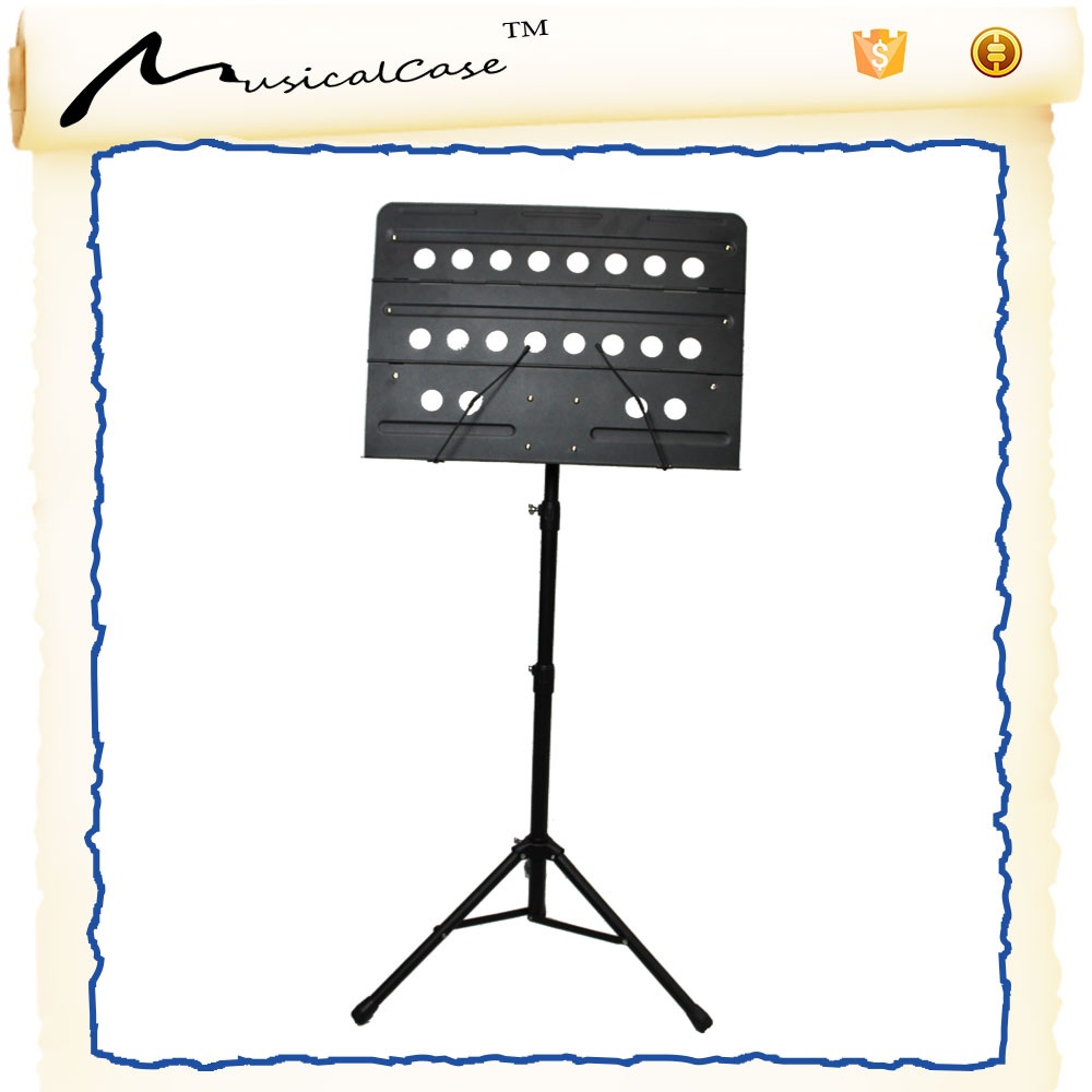 Great size adjustable music sheet stand with lorn music score book shelf orchestra music stand