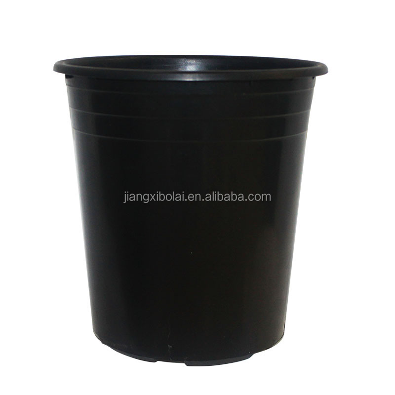 Plastic plant pots wholesale, black flower pot, 15 gallon tree nursery pot