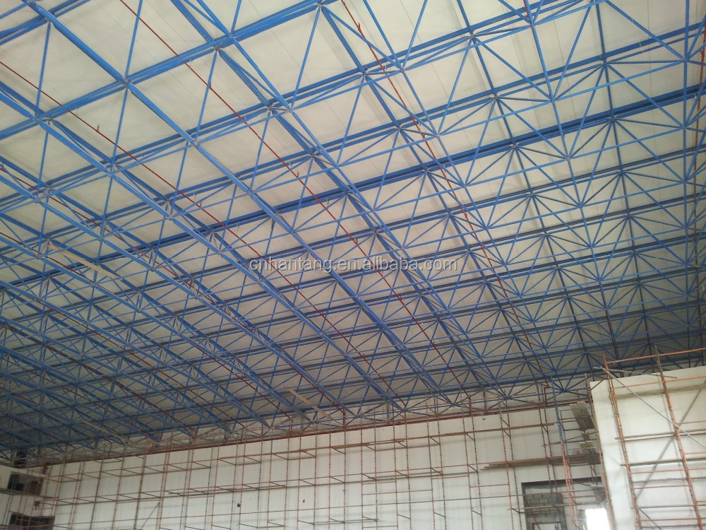 Basketball court stadium sports hall steel space frame building KSA