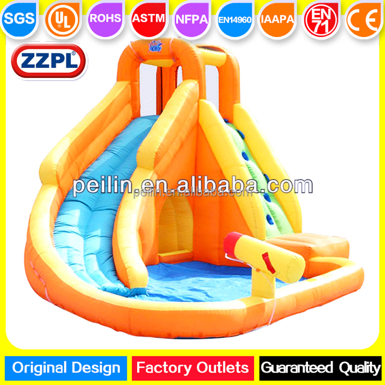 ZZPL Mini Inflatable Water Slide and Pool, Backyard Inflatable Water Slide Park for kids