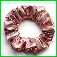 Shiny scrunchie in old pink color