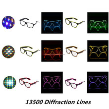 Party Decorations LED Lights EL diffraction glasses - Rainbow Frireworks