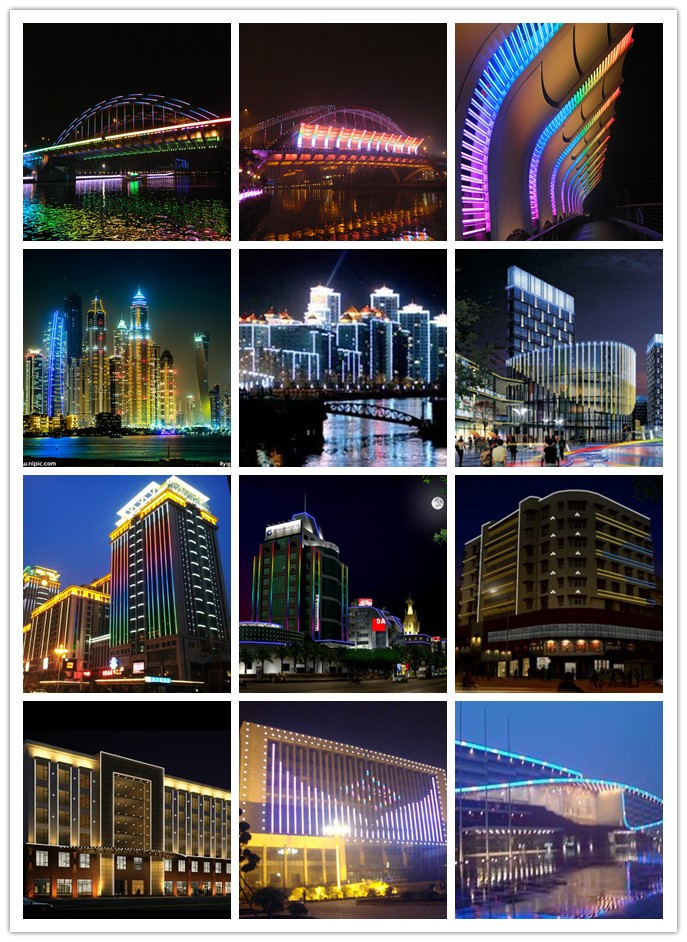 Popular IP65 RGB LED digital tubes for outdoor decoration