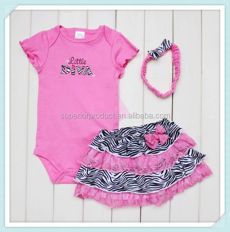 New 3pcs Clothes Suit Baby Girls Short Sleeve Happy Birthday Romper +Headband+Tutu Skirts Baby