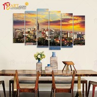 Home Decor Custom Modern Canvas Oil Wall Picture Landscape House Painting
