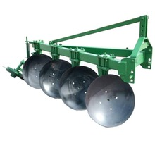 Adjustable three-point mounted garden tractor disc plough plow