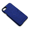 ultra slim deep blue pc phone cover exquisite lining leather phone case for iphone 8 for iphone 8 plus