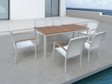 Teak dining table and chair set outdoor hotel patio furniture