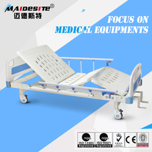 Alibaba cheap price medical folding manual adjustable hospital bed for elderly